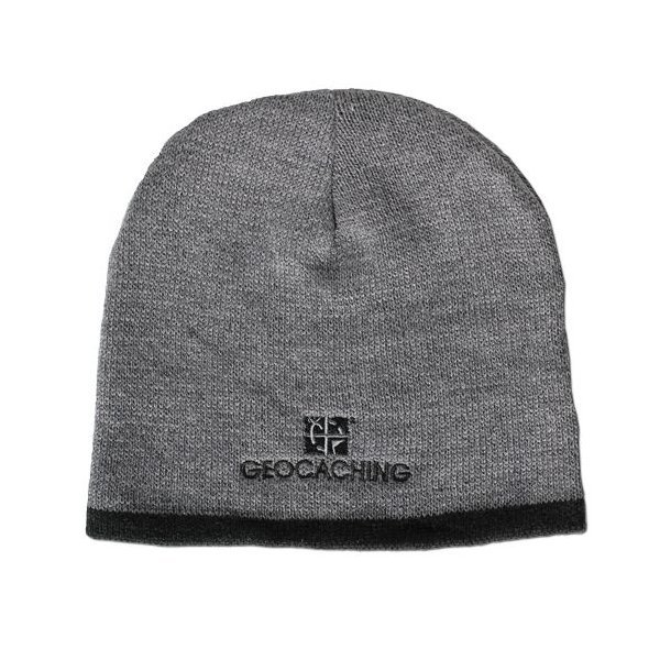Geocaching Knit Beanie, Grey