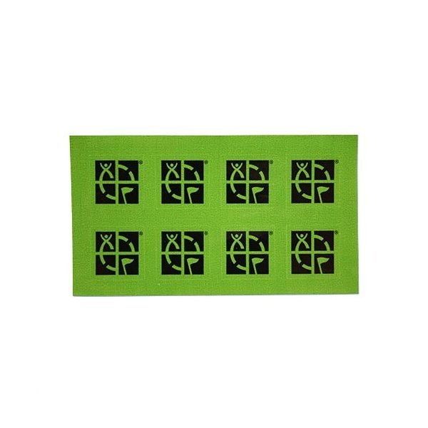 8 Pack of Small Square Geocaching Logo Stickers, 2 cm
