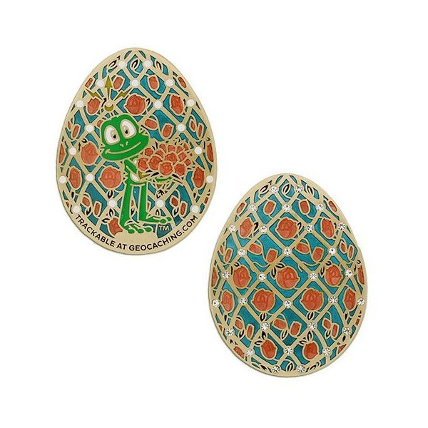 Signal the Frog Faberge Egg Geocoin