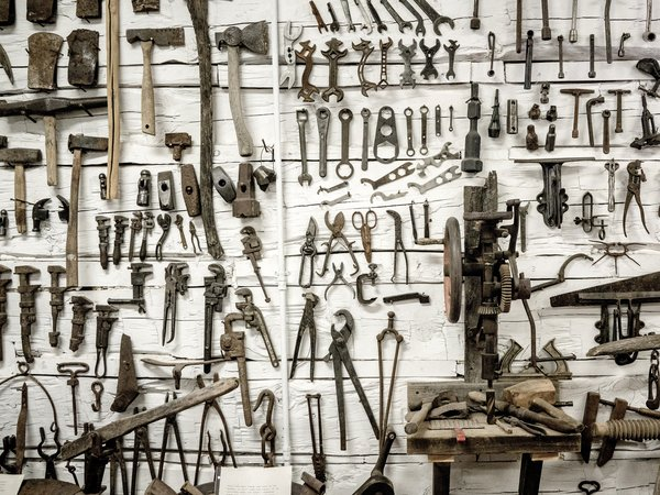 Wall full of tools